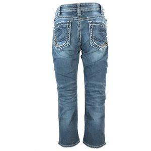 Silver Aiko low Capri jeans